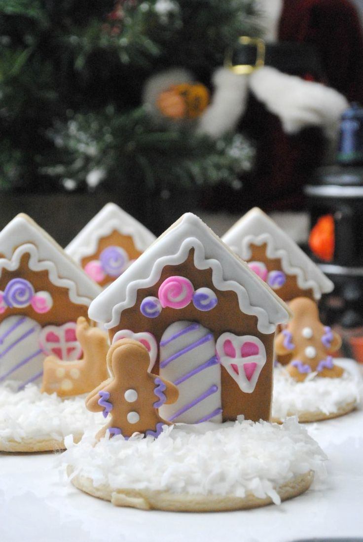 How to make these Gingerbread house cookies. It's that magical time of year where everyone starts to talk about making Gingerbread Houses. This is a fun twist on that idea — an incredibly fancy Gingerbread House cookie! Here is what you need Cookie Ingredients: 3 C flour 1 tsp baking soda 1/2 tsp salt 1 C soft unsalted butter 1 C granulated sugar 1 …