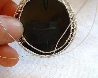 Wire Wrap Woven Pendant Tutorial part 1