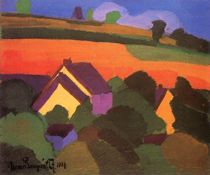 József Nemes-Lamperth   Landscape, 1917
