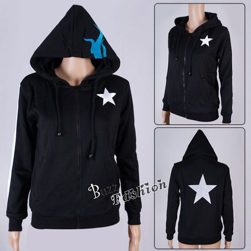 VOCALOID Black Rock Shooter Black Jacket Hoodie Coat Anime Cosplay Costume #Unbranded #JacketsCoatsCloaks
