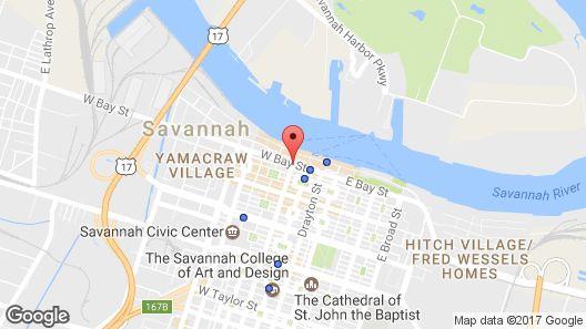 The Bohemian Hotel Savannah Riverfront, Autograph Collection Map