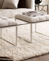 White shag rug to go under bed so you get to step on some nice fuzzy carpet in the morning instead of a cold floor.