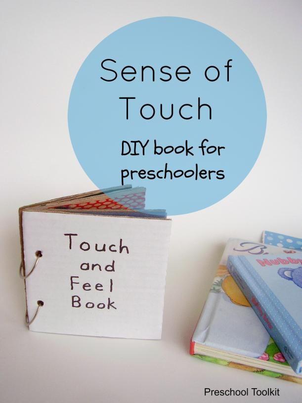 Sense of touch DIY book activity - Preschool Toolkit