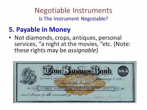 Negotiable Instrument Song