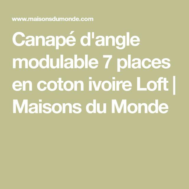 Canapé d'angle modulable 7 places en coton ivoire Loft | Maisons du Monde