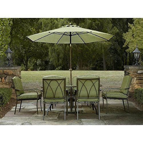 Patio Dining Set 7 Piece Set Weather Resistant, Http://www.amazon