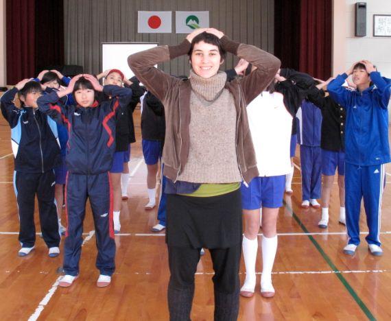 teaching at Yamaguchi elementary school