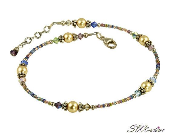 228 best beaded anklet images on beaded