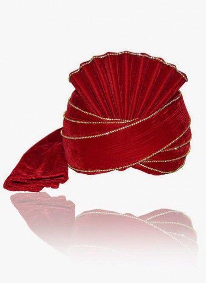 Fabulous Red Velvet Turban