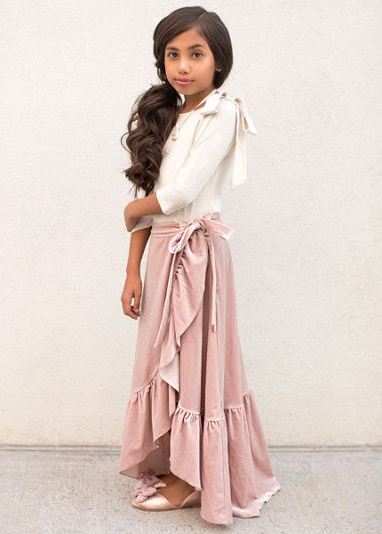 c11976da498 Priscilla Skirt in Nude Pink - Jeune Fille Little Fashionista