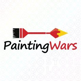 Exclusive Customizable Logo For Sale: Painting Wars | StockLogos.com https://stocklogos.com/logo/painting-wars