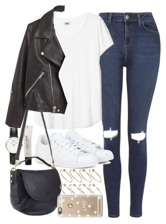 """Requested outfit with an Effie satchel"" by ferned ❤ liked on Polyvore featuring Topshop, Daniel Wellington, adidas, Forever 21, Mulberry, ASOS and Casetify"
