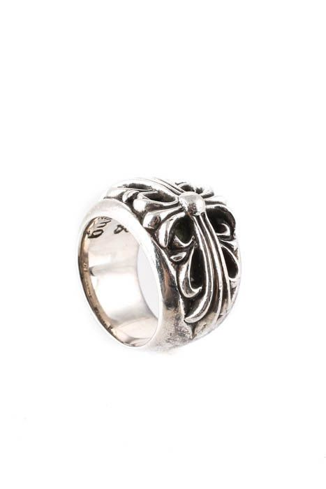 e209cf2a2db Chrome Hearts Womens Sterling Silver Ring Size 4 1992 Cross Band  850 (eBay  Link)
