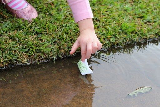 Outdoor Play Ideas For When It's Raining or Dark