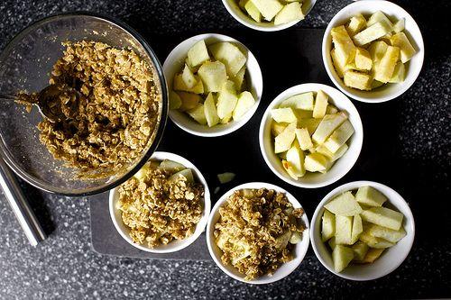 , individual desserts here I come! These are multigrain apple crisps ...