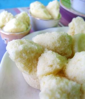Indonesian Steamed Cake, a.k.a. Bolu Kukus