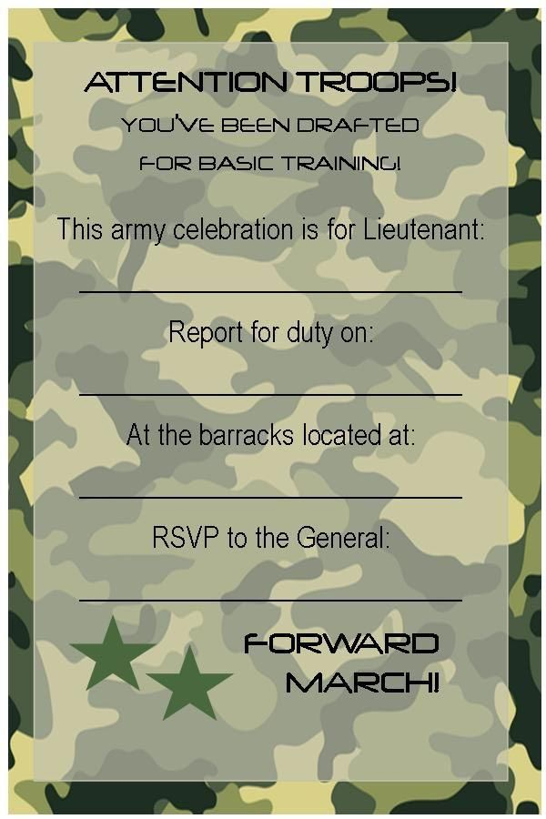 Army Tank Birthday Party