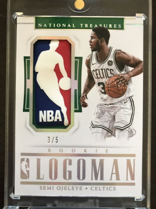 2017 18 Panini National Treasures Semi Ojeleye Rookie Logo Logoman