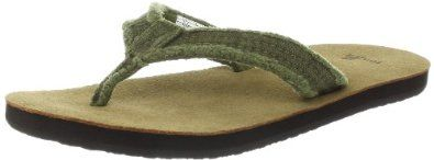 Sanuk Whos Afraid Boys Flip Flop (Little Kid/Big Kid) Sanuk. $23.95. Synthetic sole. Super Soft and High Rebound Footbed. Super Comfy Terrycloth Liner. Textile. Frayed Poncho or Canvas Strap