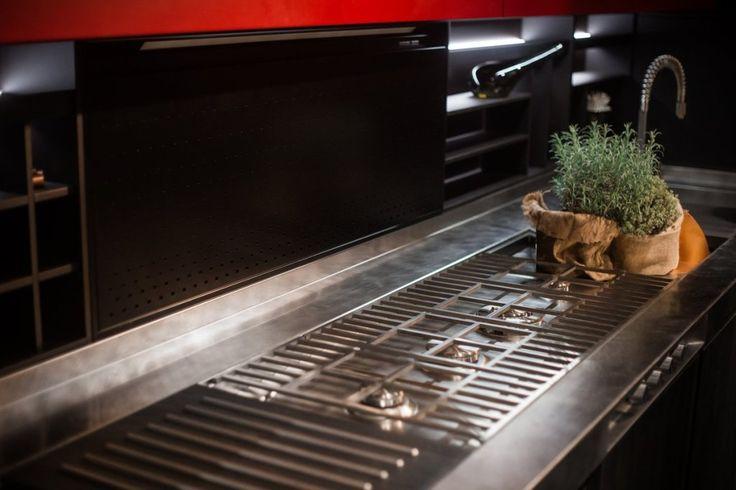Electrocasnice încorporabile Barazza, Piano Lab: sistem personalizabil integrat pentru plită, chiuvetă și blat de lucru