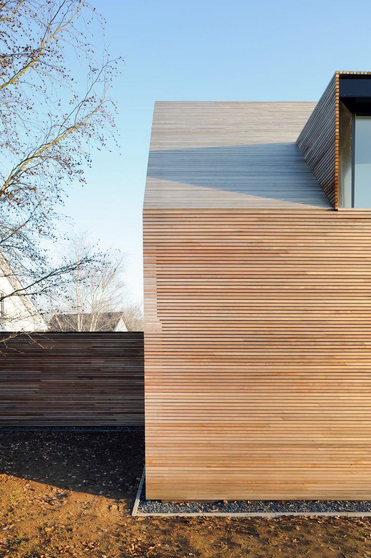 slimline timber cladding, contemporary dormer