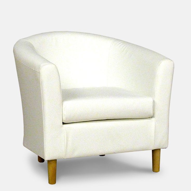 white faux leather tub chair chair pinterest tub chair. Black Bedroom Furniture Sets. Home Design Ideas