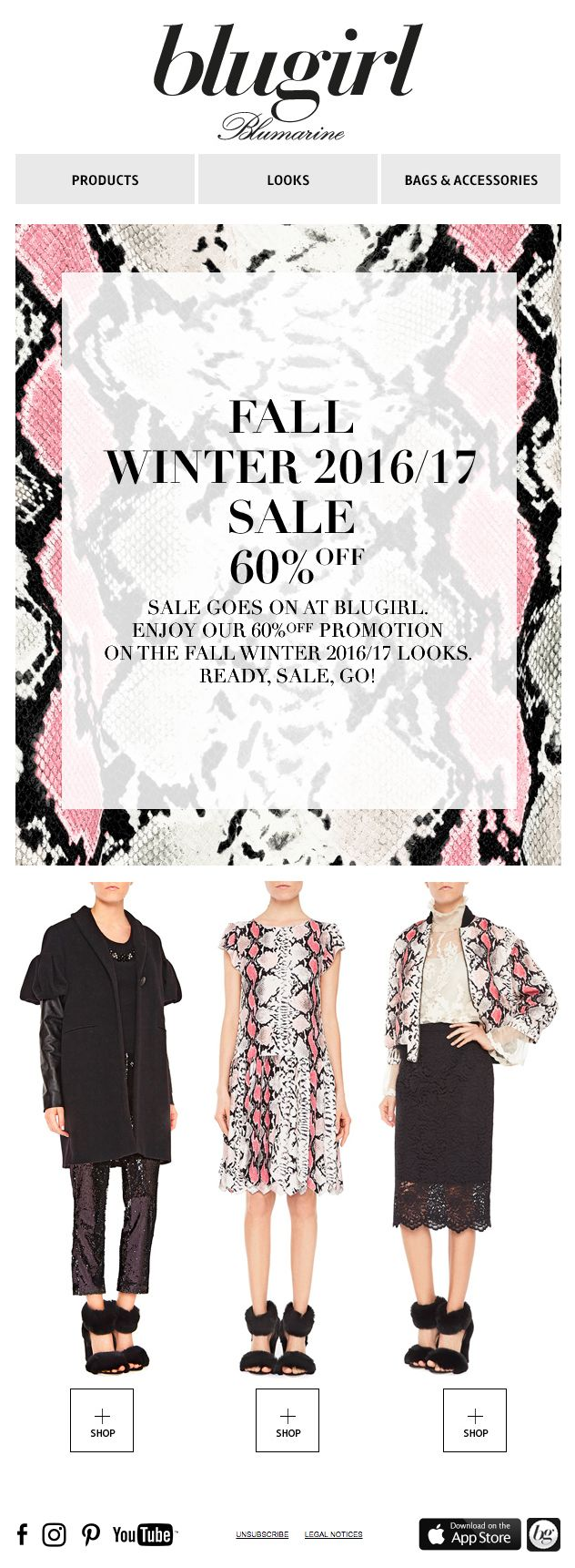 Blugirl Winter Sales • 60% off on the Fall Winter 2016/2017 Collections