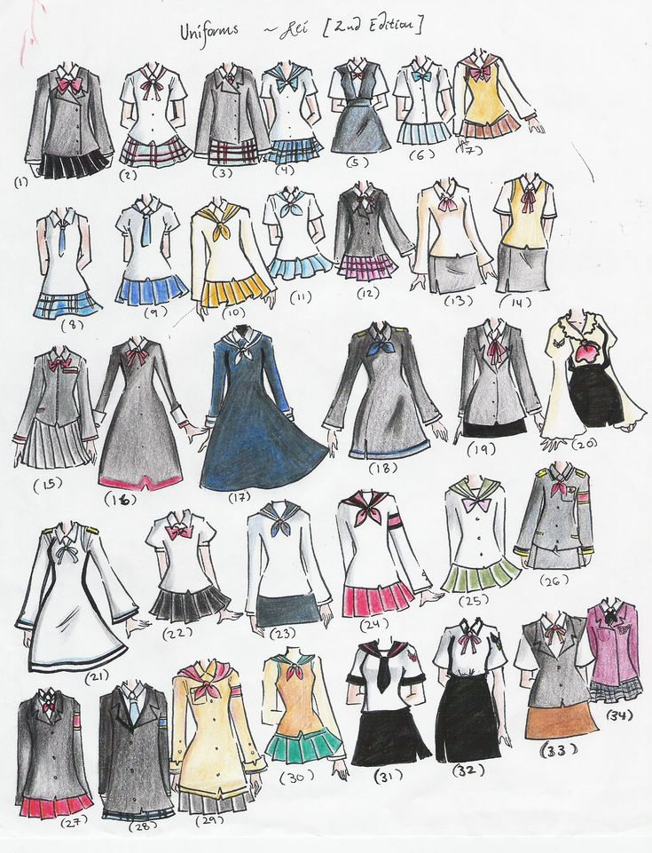 school uniforms | school uniforms 2nd edition by NeonGenesisEVARei on deviantART