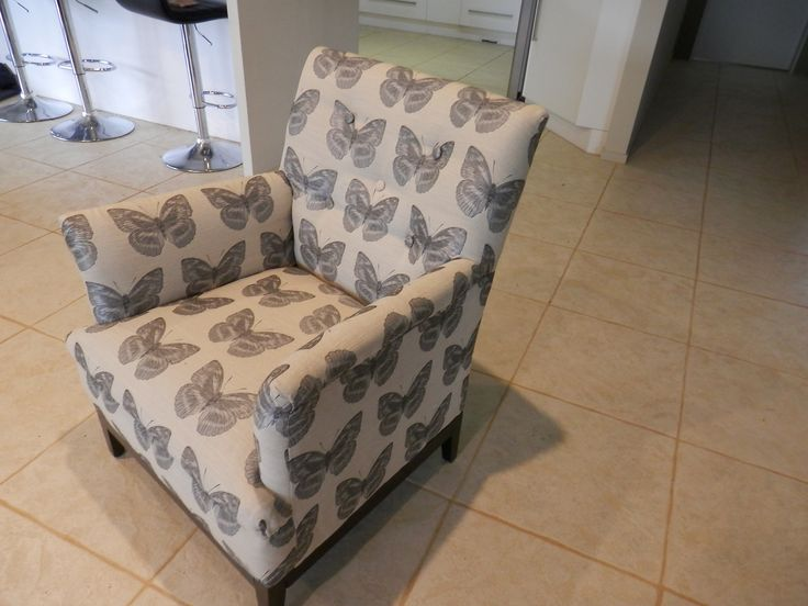 my very cool butterfly chair it had to be striped back to the frame and completely redone