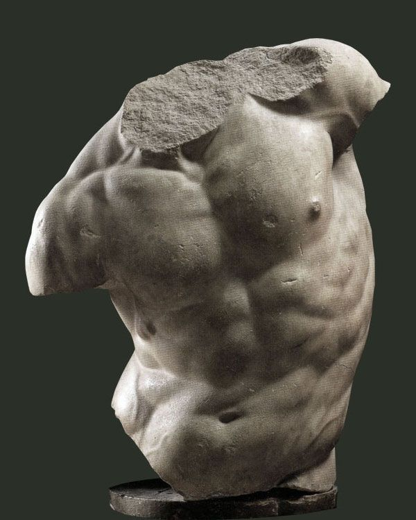 The Gaddi Torso, part of Hellenistic sculpture of the 2nd century B.C. Italy, Florence, Uffizzi Gallery