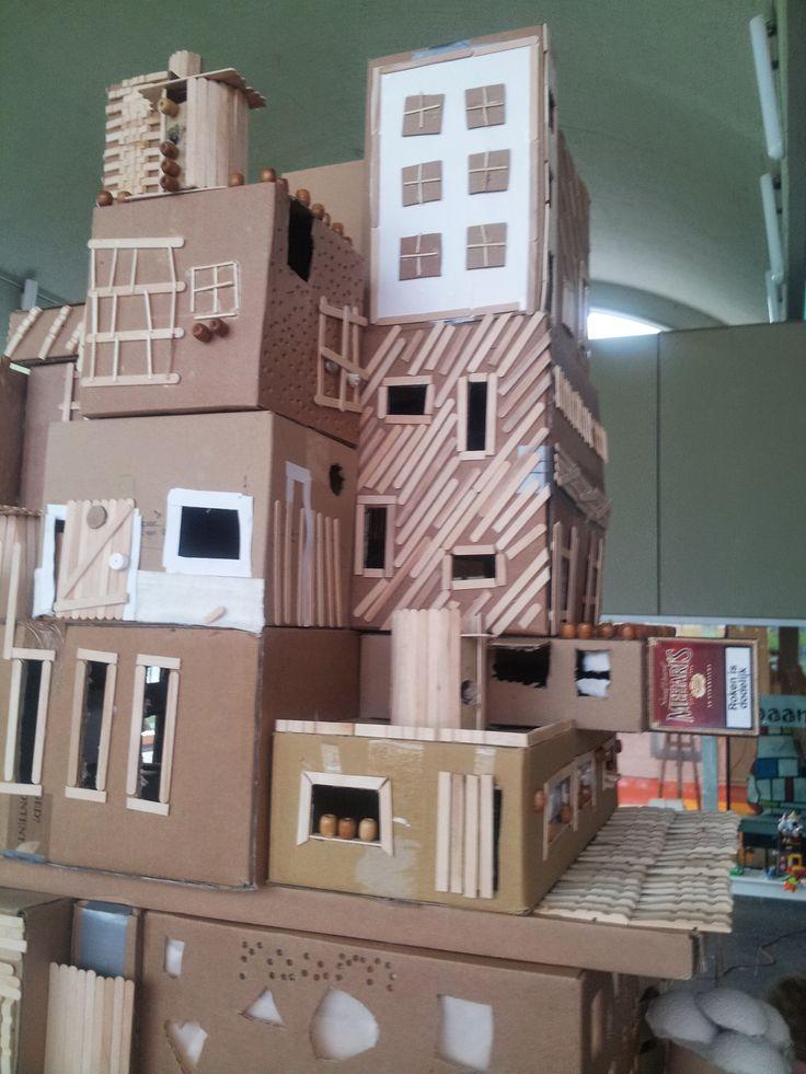 74 best cardboard box houses images on pinterest. Black Bedroom Furniture Sets. Home Design Ideas