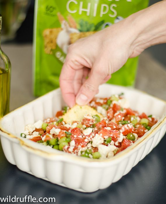 Easy Appetizers And Dips: Feta, Tomatoes, Olive Oil, And Green Onion
