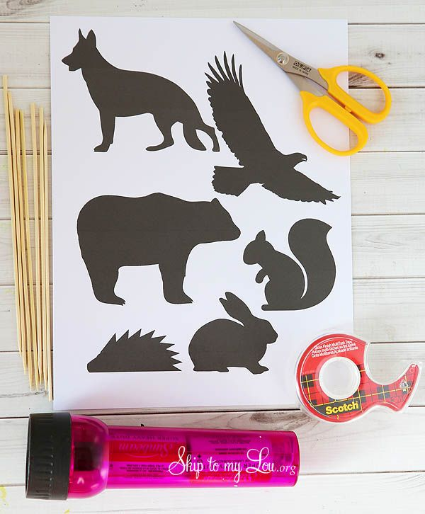 DIY Animal Silhouettes for Shadow Puppets - My kids are going to love these!