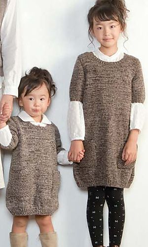 Cute girls dress! Make it in some DROPS Baby Merino, Fabel or Alpaca! Ravelry: Foire Sweater Dress pattern by Pierrot (Gosyo Co., Ltd)
