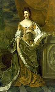 Anne of England, oil on canvas attributed to Michael Dahl, c. 1690.  The Granger Collection, New York.