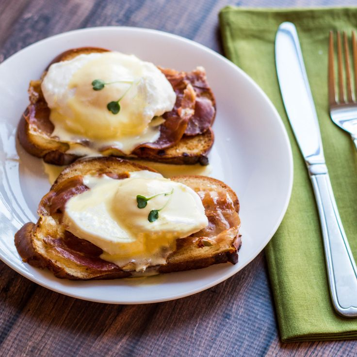 Buttery, toasted challah and salty, crisp prosciutto make this Eggs Benedict something special. A classic Hollandaise and microgreens top off this dish.  Related PostsClassic Hollandaise SauceSweet Pea & Ricotta Crostini with Crispy ProsciuttoChallah French Toast with Brandied Cherry SauceLemon Poppy Seed MuffinsChorizo Tacos with Avocado Crema & Pico de Gallo