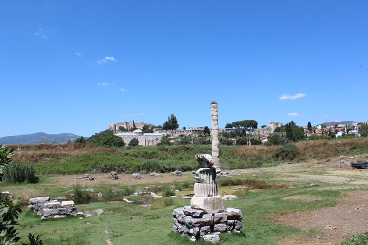 This is all that remains at the Temple of Artemis, one the the seven wonders of the ancient world.