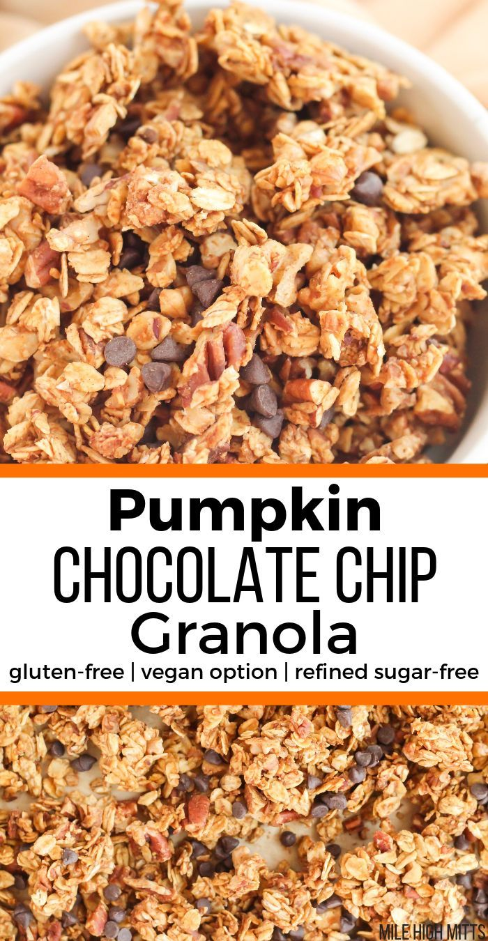 This Easy Healthy Pumpkin Chocolate Chip Granola Recipe Is Made