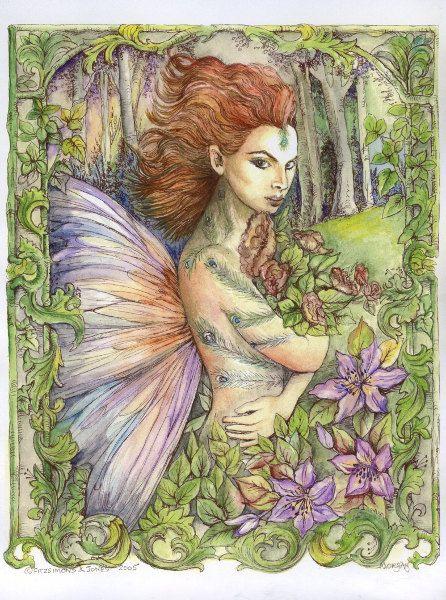 Craft Fabric fantasy fairy collection 4 print by MorgansFaeWorld, £5.99