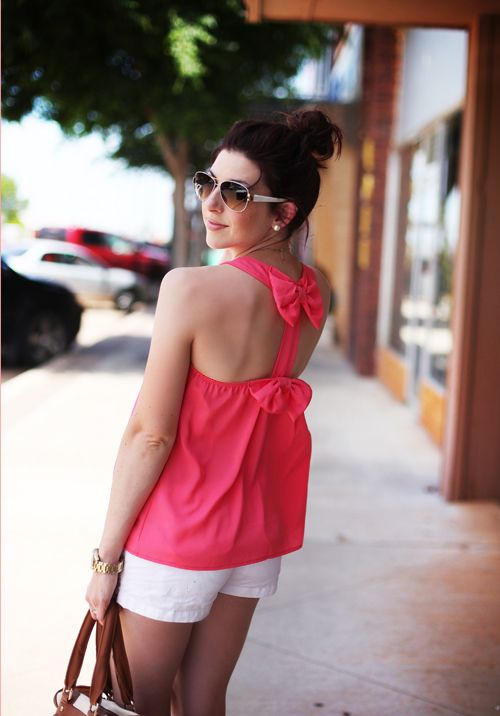 Pink Bow Top - Summer Outfit