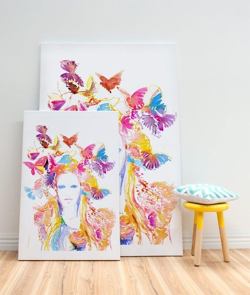 Vogue- Jaune Spring Canvas Print-by Catherine Parr sold by Home @ Abode