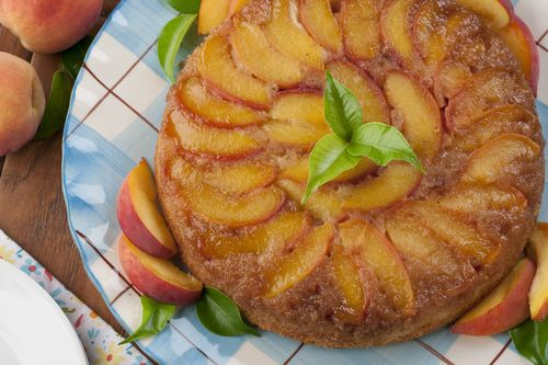 Peach Upside-Down Cake | MrFood.com