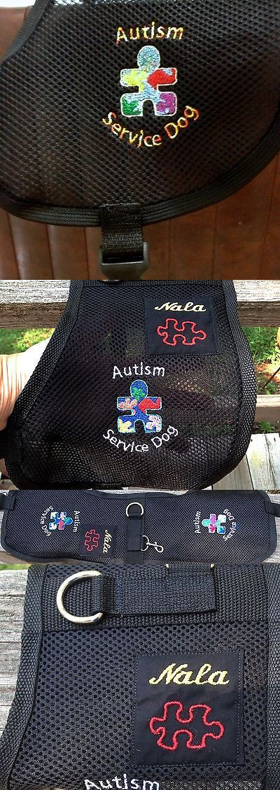 Harnesses 66783: Autism Service Dog Vest, 3D Air Mesh Fabric,Handmade, Adjustable, Custom Wording -> BUY IT NOW ONLY: $45 on eBay!