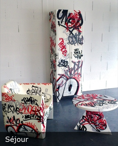 Design For Life #street #art #graff #graffiti #design #meuble #furniture