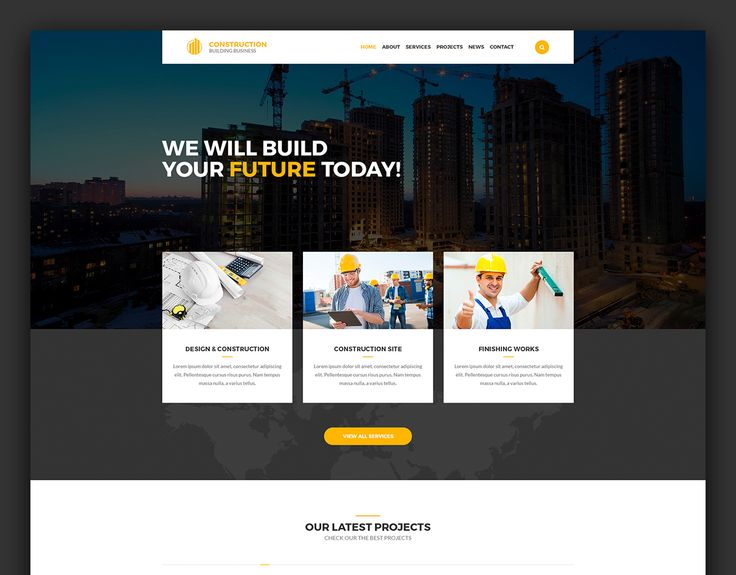 "Popatrz na mój projekt w @Behance: ""Construction – Building Business PSD Template"" https://www.behance.net/gallery/49283045/Construction-Building-Business-PSD-Template"