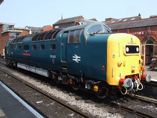 BR Deltic 55022 Royal Scots Grey at rest, at Bury Bolton Street (05/07/2013) | Flickr - Photo Sharing!