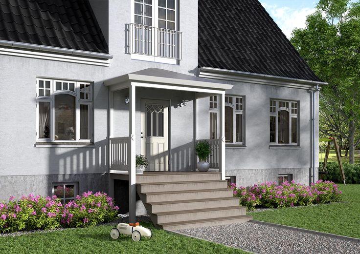 Klassisk yderdør til et klassisk hus. Modellen er