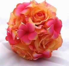 Plumeria Bouquet with orange lillies instead of roses