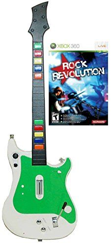 Xbox 360 Wireless Guitar Controller and Rock Revolution Video Game Kit bundle set rock music band hero -- Be sure to check out this awesome product.