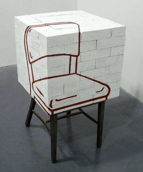 Mike Womack - drawing a chair skulpture